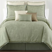 CLOSEOUT! Liz Claiborne® Gardenia Jacquard Comforter Set & Accessories