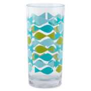 Happy Chic by Jonathan Adler Fish Highball Glass