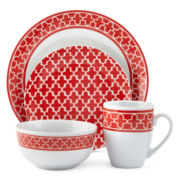JCPenney Home™ Ogee Quatrefoil 16-pc. Dinnerware Set
