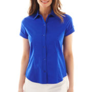 Liz Claiborne Short-Sleeve Shirt - Tall