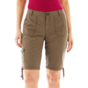 St. John's Bay Cargo Bermuda Shorts - Petite