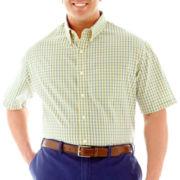 IZOD Short–Sleeve Plaid Woven Shirt–Big & Tall