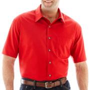 Van Heusen No-Iron Short-Sleeve Woven Shirt-Big & Tall
