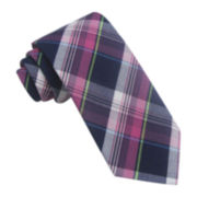 Stafford® Bubble Gum Plaid Tie