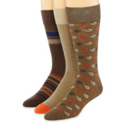 Stafford® 3-pk. Cotton-Blend Crew Socks