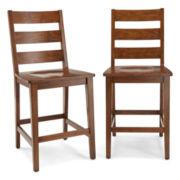 Dining Possibilities Counter-Height Ladderback Chair