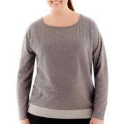 Made For Life™ Reversible Dot/Stripe Sweatshirt - Plus