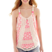 Rewind Lace-Front Tank Top
