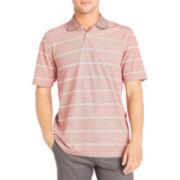 Arrow® Short-Sleeve Striped Oxford Piqué Polo