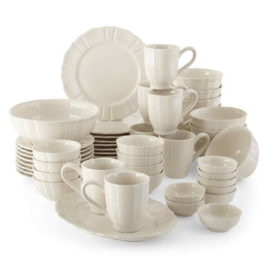 jcpenney.com | JCPenney Home™ Ashley Scalloped Stoneware 50-pc. Dinnerware Set - Service for 8