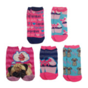 5-pk. Pug Photoreal Shortie Socks