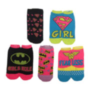 5-pk. Superhero Side-By-Side Low-Cut Socks