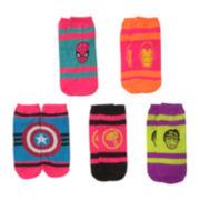 5-pk. Superhero Side-By-Side Low-Cut Socks
