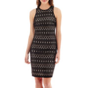Bisou Bisou® Sleeveless Crochet Dress