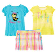 Okie Dokie® Graphic Tee, Ruffle Tee or Ruffle Shorts – Preschool Girls 4-6x