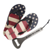 Wembley™ Americana Flip Flops and Bottle Opener Set