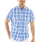 U.S. Polo Assn.® Short-Sleeve Plaid Woven Shirt