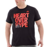 adidas® Heart Over Hype Tee–Big & Tall