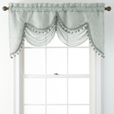 ... Decorating Jcpenney Window Valances : Portofino Scalloped Rod Pocket  Valance ...