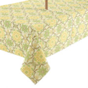 Porto Trellis Stain-Resistant Outdoor Tablecloth