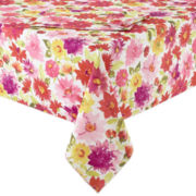 Veranda Floral Stain-Resistant Table Linen Collection