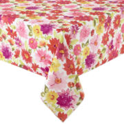 Veranda Floral Stain-Resistant Tablecloth