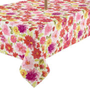 Veranda Floral Stain-Resistant Outdoor Tablecloth