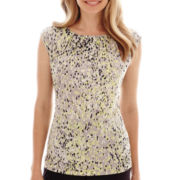 Liz Claiborne® Short-Sleeve Print Top