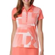 PGA Tour® Short-Sleeve Print Golf Polo Shirt