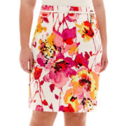 Worthington® Sateen Print Pencil Skirt - Plus