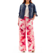 a.n.a® Denim Jacket, Ladder-Trim Shell or Drawstring Palazzo Pants - Plus