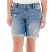a.n.a® Denim Bermuda Shorts - Plus