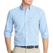 IZOD® Long-Sleeve Small Gingham Shirt