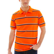 U.S. Polo Assn.® Short-Sleeve Fine-Striped Piqué Polo