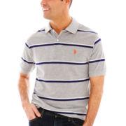 U.S. Polo Assn.® Short-Sleeve Fine-Striped Piqué Polo