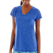 Xersion™ Short-Sleeve V-Neck Melange T-Shirt