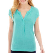 Stylus™ Split-Neck Henley T-Shirt