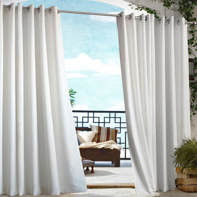 gazebo solid grommettop outdoor curtain panel