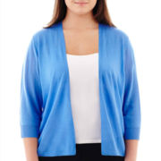 Worthington® 3/4-Sleeve Open-Front Cardigan Sweater - Plus