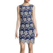 Renn® Sleeveless Laser-Cut Lace Sheath Dress
