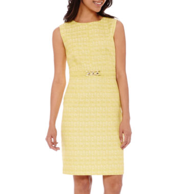jcpenney.com | Chelsea Rose Sleeveless Front-Buckle Sheath Dress
