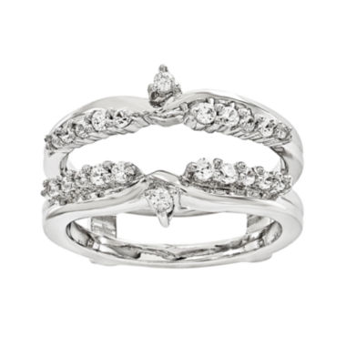 jcpenney.com | 1/3 CT. T.W. Genuine Diamond 14K White Gold Ring Guard