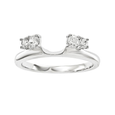 jcpenney.com | 1/4 CT. T.W. Diamond 14K White Gold Ring Enhancer