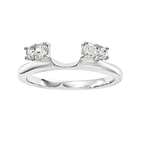 1/4 CT. T.W. Diamond 14K White Gold Ring Enhancer