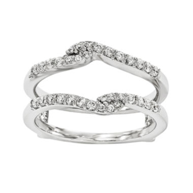jcpenney.com | 1/4 CT. T.W.  14K White Gold Diamond Ring Guard