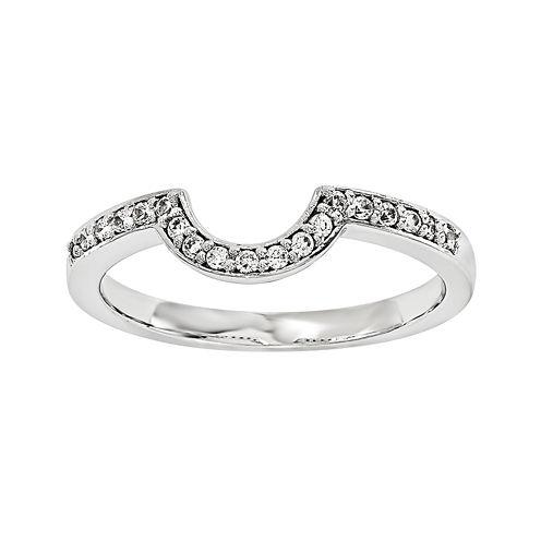 14K White Gold 1/5 CT. T.W. Diamond Ring Enhancer