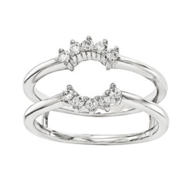jcpenney.com | 1/5 CT. T.W. Diamond 14K White Gold Ring Guard