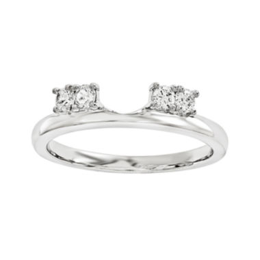 jcpenney.com | 1/6 CT. T.W. Diamond 14K White Gold Ring Enhancer