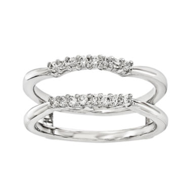 jcpenney.com | 1/6 CT. T.W. Diamond 14K White Gold Ring Guard