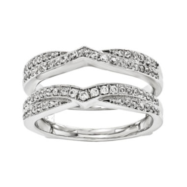 jcpenney.com | 3/8 CT. T.W. Diamond 14K White Gold Ring Guard